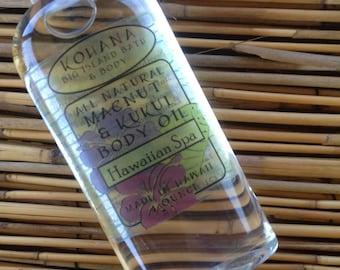 Hawaiian Spa-Macadamia Kukui Nut Body Oil-MADE IN HAWAII