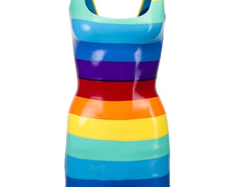 Latex Rainbow Dress