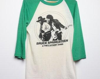 Bruce Springsteen Shirt Vintage tshirt 1975 Born To Run Jersey concert tee E-Street band rock 1970s Original