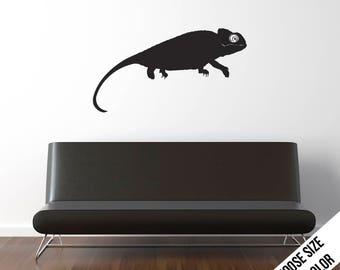 Chameleon Wall Decal  - Lizard, Pet, Vinyl Sticker