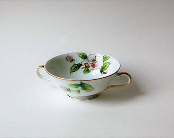 Roselyn Dogwood Footed Cream Soup Bowl China Dish Japan