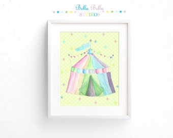 Circus Tent Print 8x10 ~ Printable Download