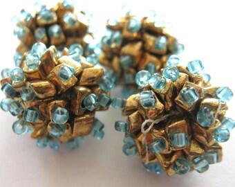 Vintage Handmade Beaded Beads E273