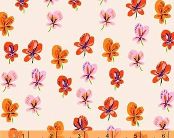 Sleeping Porch - Pansies Blush COTTON LAWN by Heather Ross from Windham Fabrics