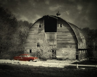 Classic Chevrolet / Barn Art / Framed Print / Greeting Card / Barnwood / Cottage Chic / Barn Salvage