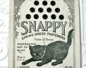 Snappy Spring Dress Fasteners, Vintage Snap Card, Sewing Notion