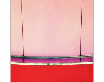 photography, mid century modern, carnival, summer, abstract, modern, red, pink, valentine // Concession, 24x16 photograph