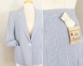 Seersucker Jacket // blue white stripes // Dandies and Quaintrelles