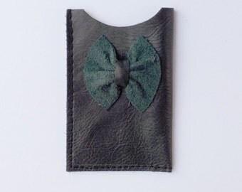 Leather card holder, business card holder, credit card sleeve, card wallet, Oyster card holder