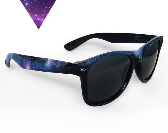 Galaxy birthday gift for her nebula space custom sunglasses personalized gift for him festival constellation wayfarer fashion '80s retro
