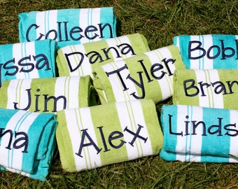 Personalized Beach Towels - Sarah