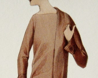 Unusual 1920s pencil dress sewing pattern. Simple and elegant, but with loads of character.
