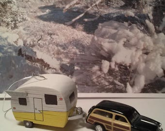 Shasta camper ornament for the holidays or hang from your rear view mirror.