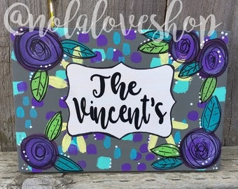 Custom last name sign| housewarming gift| family name sign| personalized sign| bridal shower gift|  family door sign| wedding gift|