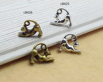 30pcs 13x17mm The Cat  Antique Bronze Retro Pendant Charm For Jewelry Bracelet Necklace Charms Pendants C7426-C8425