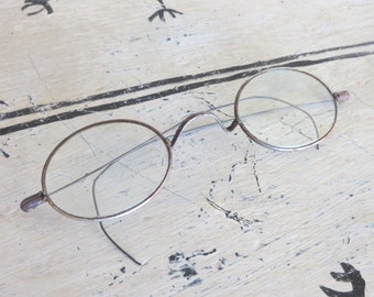 Antique Wire Children's Spectacles Wire Rimmed Eye Glasses