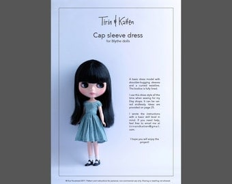 Dress pattern for Blythe dolls. Detailed instructions.