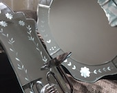 Hollywood Regency Venetian wall mirror and candle sconce