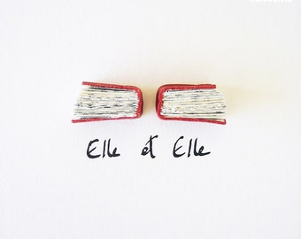 Red Book Art - Elle et Elle (Her & Her) - Original Artwork, leather, urban chic, elegant, romantic, lesbian couple, love, 5x7, 13x18 cm