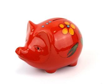 Gorgeous Vintage Italian Bertoncello Ceramic Piggy Bank/Money Box - Free UK Shipping