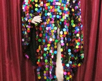 Salsa Latin Samba Drag Queen Dance Dress Jacket Coat XS - XL