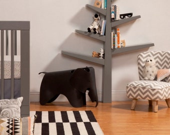 Custom Tree Bookcase Shelf:  Option to Paint in the Color of Your Choice