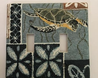 Turtle Double Light Switch Plate