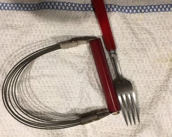 Androck Pastry cutter Bakelite and fork
