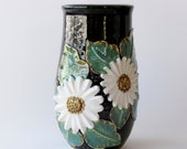 Daisy Vase - Floral Inspired Sculpture - Hand Thrown Vessel - READY TO SHIP