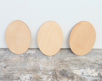 Unfinished Wood Oval Signs - Ready For You - Set Of Three - Wood Supply - DIY Occasion Sign - Wedding Sign - Wood Plaques - Easter Supplies
