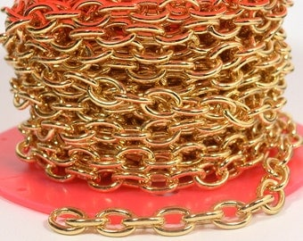 Medium Heavy Cable Chain - Gold Plated - CH54 - Choose Your Length