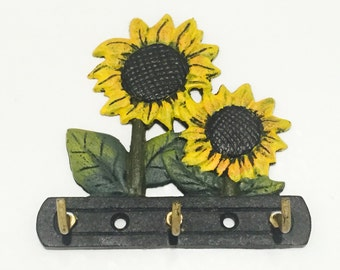 Sunflower Wall Hook - Decorative Hook - Garden Hook - Floral Hook