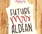 Future Mrs. Jason Aldean Concert Shirt Tank Top Mom Country Music Shirt