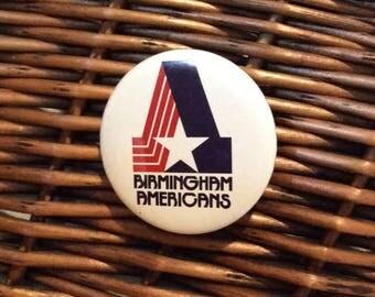 NFL Birmingham Americans  football pinback button