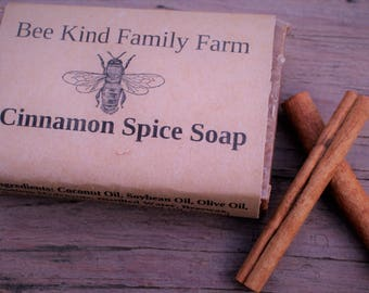 Small Cinnamon spice Soap cold Process Soap made with Honey and Beeswax