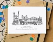 Graduation Skyline Card - Personalised Graduation Cityscape Card - UK City Graduation Art - Graduation Congratulations Card - card graduate