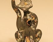 Ceramic Cat Sculpture ...      -----this cat is reserved for Jomarie, please do not buy it ------