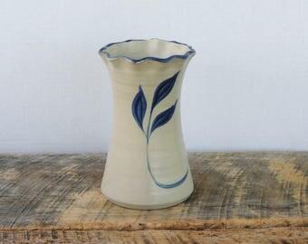 Vintage Williamsburg Pottery Salt Glaze Vase