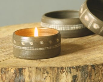 Tea candle holder. Candlestick plate.
