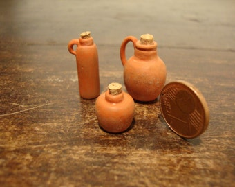 miniature for dollhouse  vessels of the Italian tradition 3 pieces