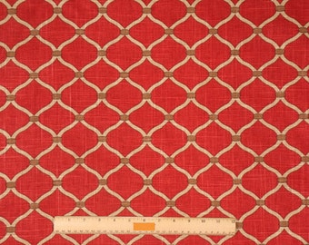 Two 20 x 20   Custom Designer Decorative Pillow Covers - Trellis Geometric - Poppy Red Cinnamon