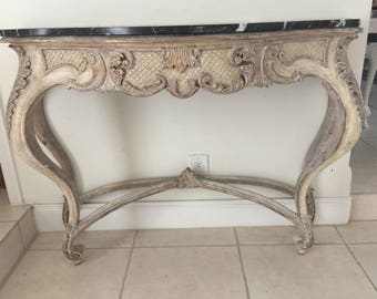 Louis XV Style Marble Console Table