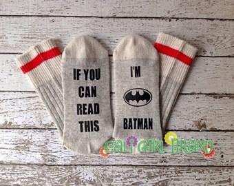 Bat Guy socks, FAST SHIP, Wine Socks, Bring Me Socks, Custom socks, Silly Saying Socks, Novelty Socks, Christmas Socks, Stocking Stuffer