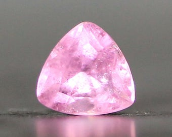 Faceted Trillion 6mm Pink Rubellite Tourmaline - October Birthstone Precious Gemstone for Rings and Jewelry Settings (CA77)