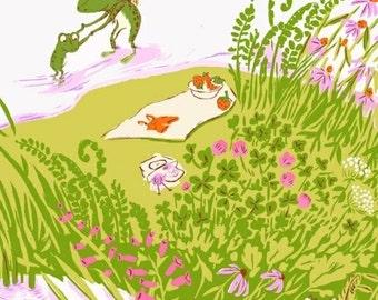 Half metre Frog Pond Lilac, OOP Heather Ross, Briar Rose