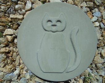 Cat Stepping Stone, Garden Wall Hanging, SHIPPING INCLUDED