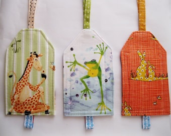 Luggage ID Tag - Giraffe, Frog, Bunny
