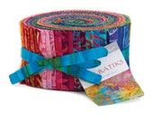 Tiki Batiks Fabric Collection by Moda Fabrics - 1 Jelly Roll