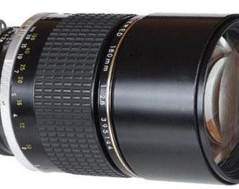 Nikon 180mm Nikkor ED f2.8 Telephoto Lens