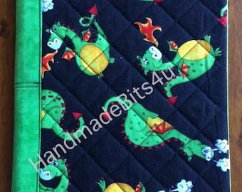 Dragons - Composition Notebook Fabric Cover - Comp Book - Reusable - Refillable